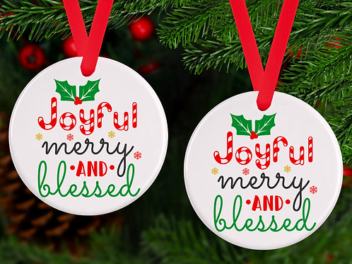 Joyful, merry and blessed