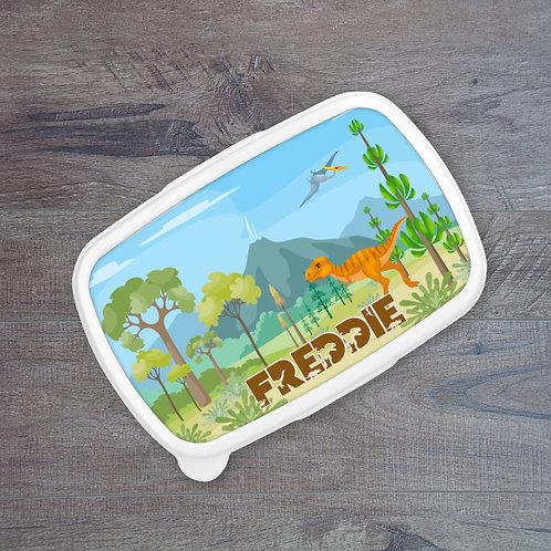 Dino Volcano Personalised Lunch Box