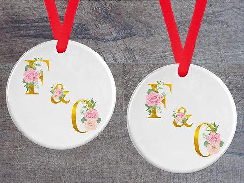 Couples Initials Hanging Ornament