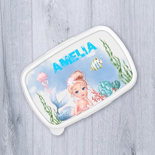 Mermaid Personalised Lunch Box