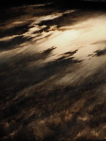 Detail of backdrop, back-lit.