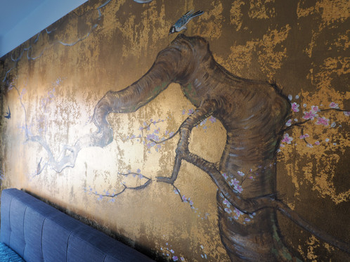 Japanase style mural