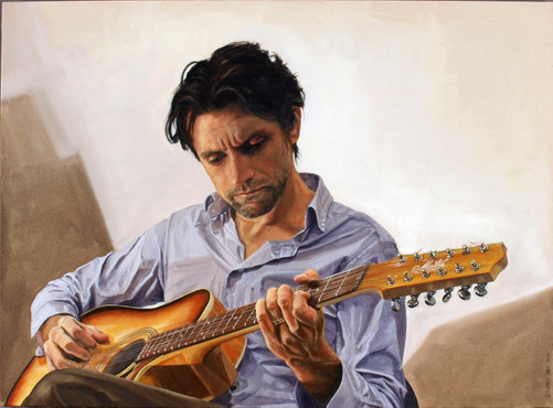 This portrait of Australian singer-songwriter, Paul Dempsey was chosen for the inaugural EMI Art Project. Oil on canvas, 92 x 66cm, 2011.