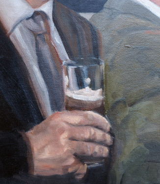 Oil on canvas board 760x480mm. (detail)