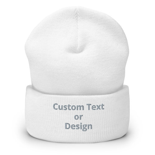 Embroidered Cuffed Beanie - 6 Colors