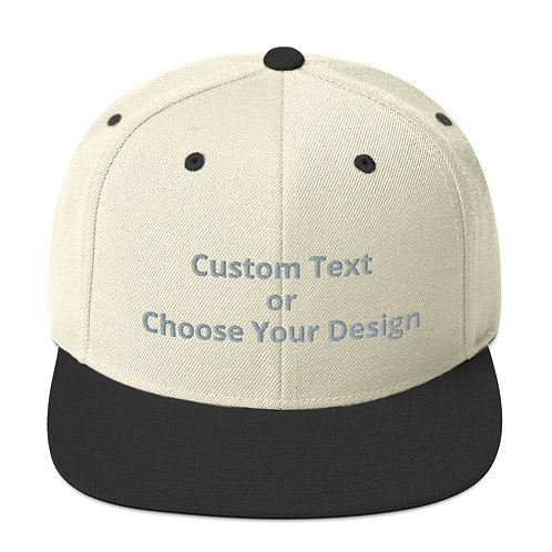 Snapback Hat Two Tone - 9 Colors
