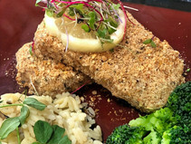 Almond, Rosemary, Lemon Crusted Tofu
