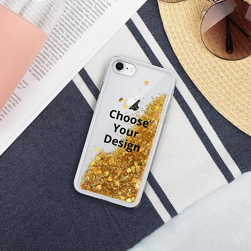Custom Liquid Glitter iPhone Case