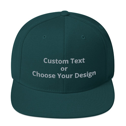 Snapback Hat Solid Colors - 11 Colors