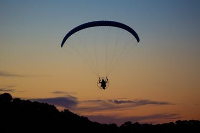 Sunset Flight on Paramotor