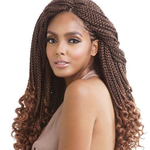 """Afri Curly Ends Box Braid 18"""""""