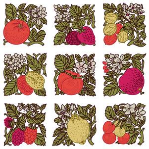 Vintage Fruit Pattern