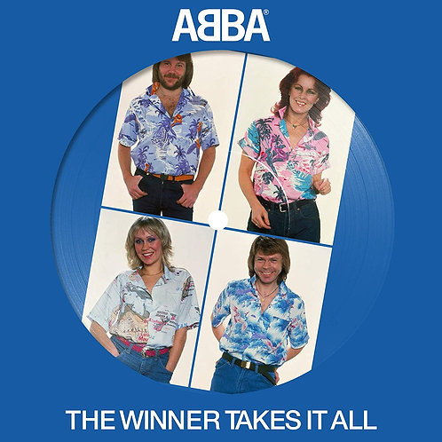 """ABBA - The Winner Takes It All 7"""" Picture Disc Released 30/10/20"""