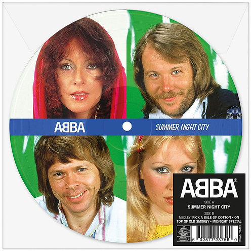 "ABBA Summer Night City (Picture Disc) 7"" Released 14/06/19"