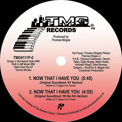 Tommy McGee - Now That I Have You 12""