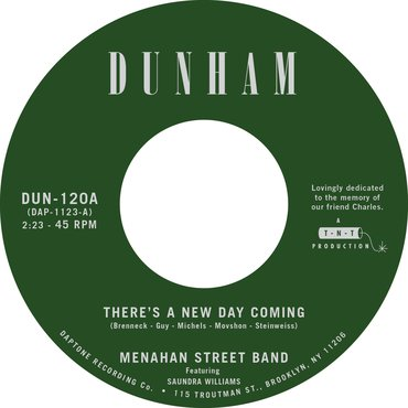 """Menahan Street Band - There's A New Day Coming 7"""" Single Released 20/12/19"""
