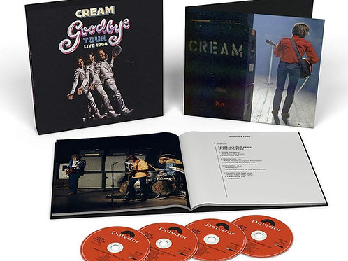 Cream - Goodbye Tour: Live 1968 CD Boxset Released 06/03/20