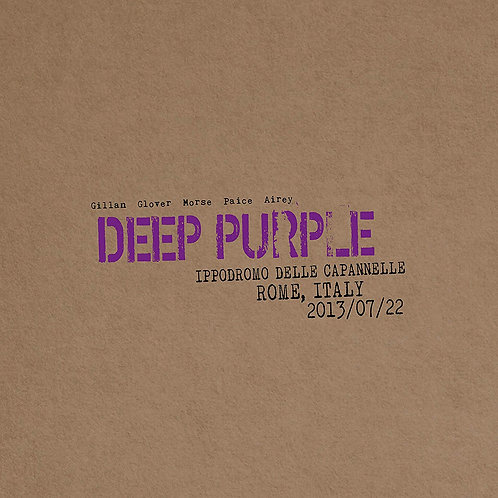 Deep Purple - Live in Rome 2013 LP Released 20/12/19