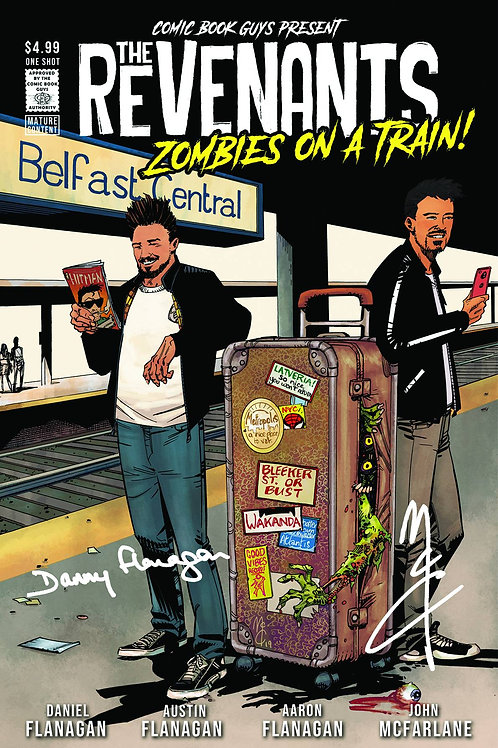 the revenants zombie on a train#1 1 shot signed