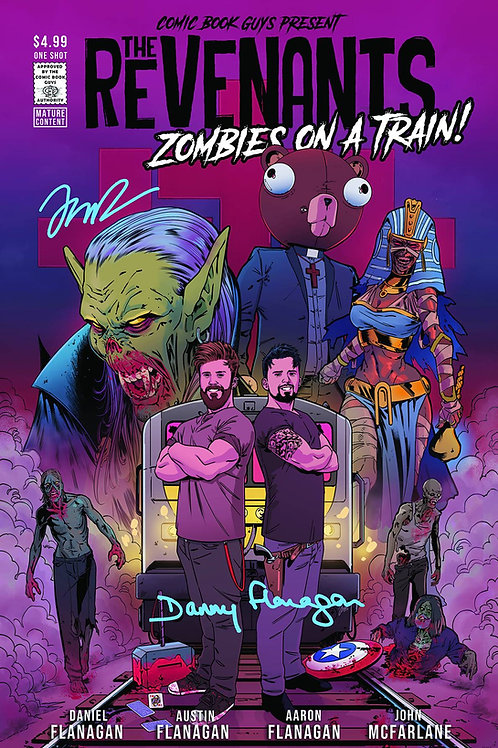 THE REVENANTS ZOMBIE ON A TRAIN #1 1SHOT SIGNED