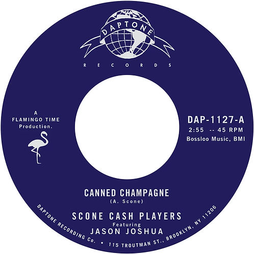 """Scone Cash Players - Canned Champagne 7"""" Single Released 20/12/19"""