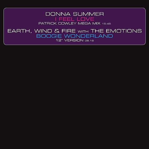 "Donna Summer/Earth, Wind & Fire - I Feel Love/Boogie Wonderland 12"" 15/11/19"