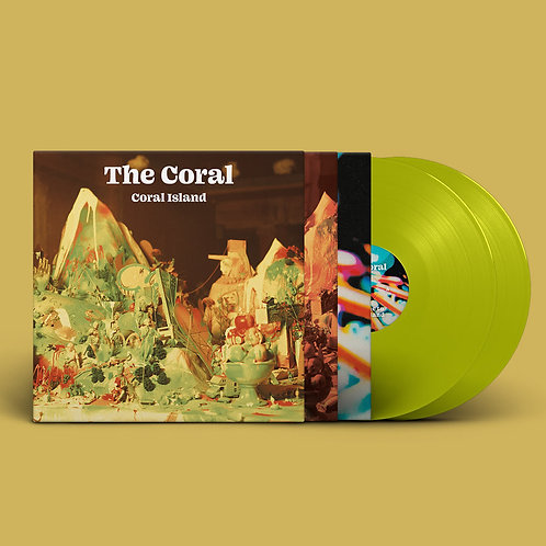 The Coral - Coral Island Transparent Lime Vinyl LP Released 30/04/21
