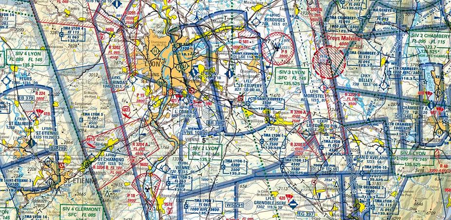 Extrait carte aéronautique OACI