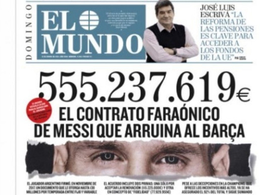 Lionel Messi's Contract, Worth €555 million, Is A Psychological Curse