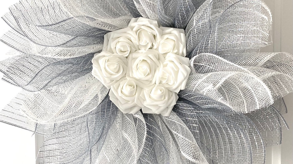 Grey and White Wreath