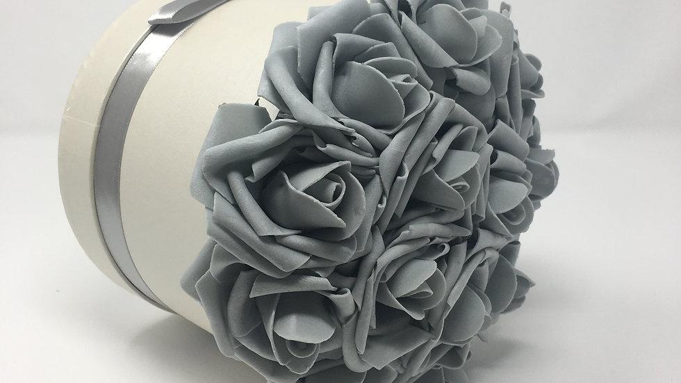 Medium Gray Hat Box