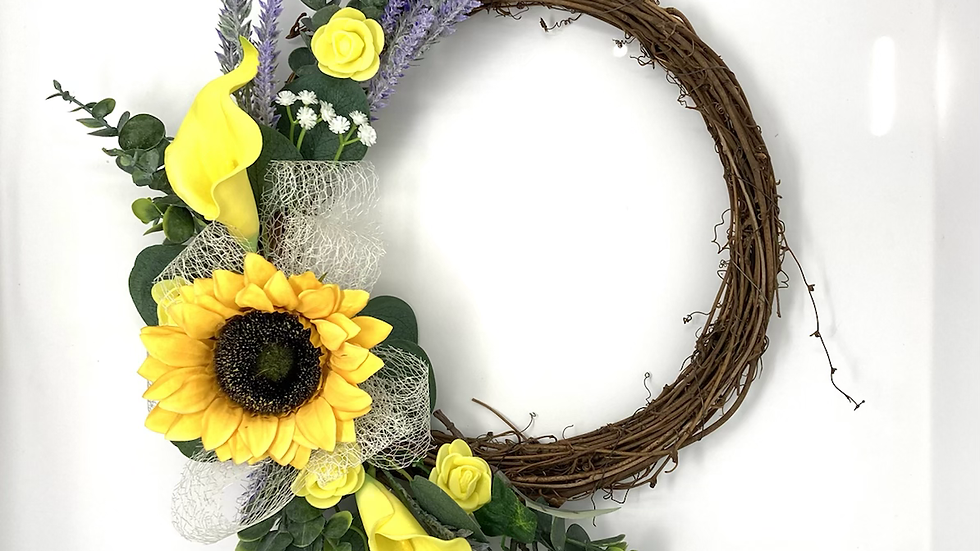 Single Sunflower Wreath