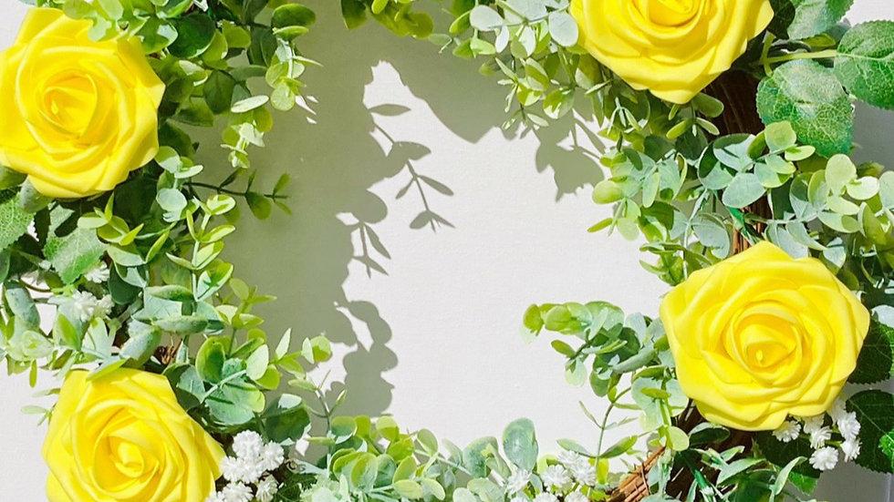 Yellow Rose Wreath