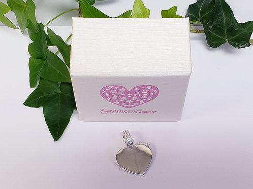 Heart Disk Pendant