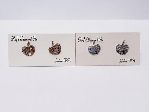 Galax Leaf Stud Earrings