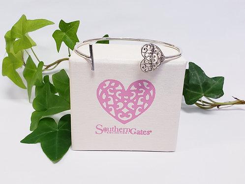 Everlasting Heart Cuff Bracelet