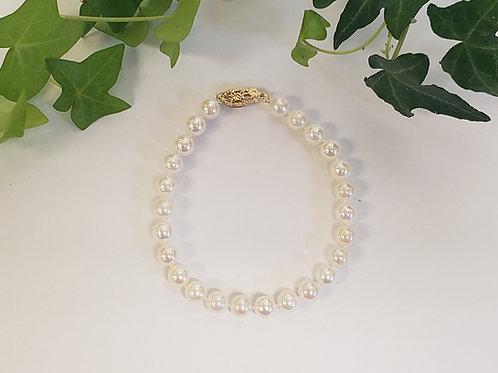 Pearl Bracelet W/ Gold Clasp