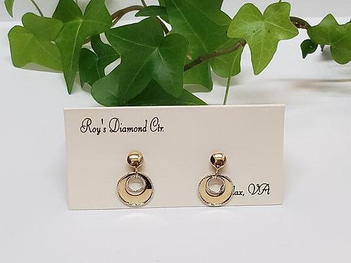 Two Tone Circle Earrings
