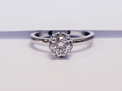 Diamond Solitaire W/Diamond Crown
