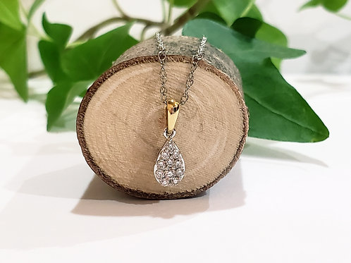 Pear Shape Cluster Necklace