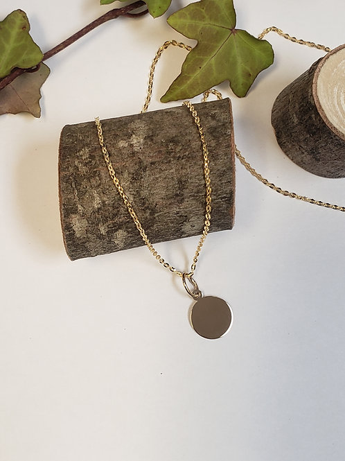 Small Gold Disc W/ Chain