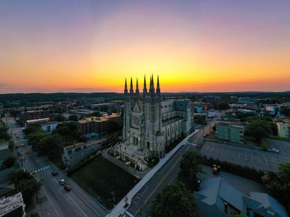 Aerial Photo of Basilica Church in Lewis