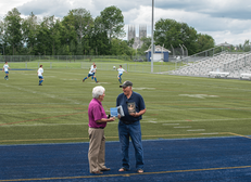 Paul & Mike McGraw at a book signing at Lewiston High School