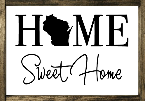 Home Sweet Home 1 State - Framed