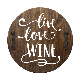 Live, Love, Wine Serving Tray