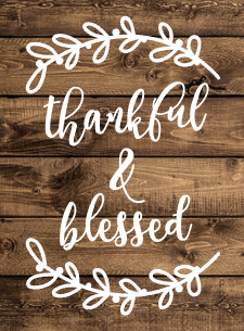 Thankful & Blessed Bay Leaves