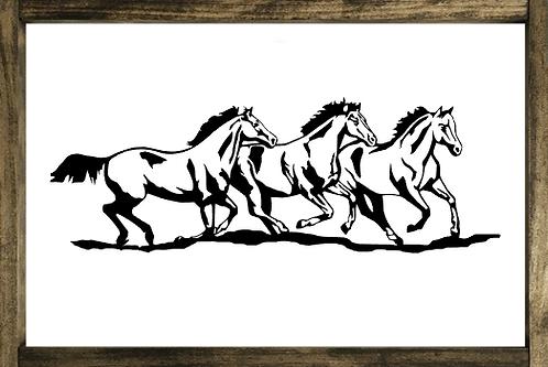 Herd of Horses - Framed