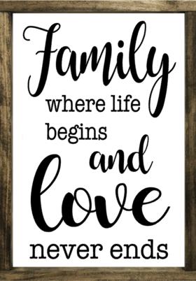 Family - Where Love Never Ends - Framed