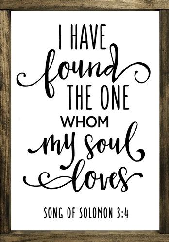 Whom My Soul Loves - Framed