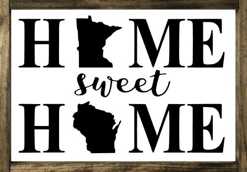 Home Sweet Home 2 States - Framed